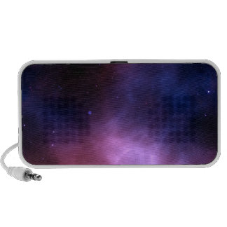 Outer Space Dark Star Nebula: Astronomy Purple iPhone Speakers