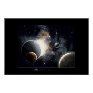 Outer space dream poster