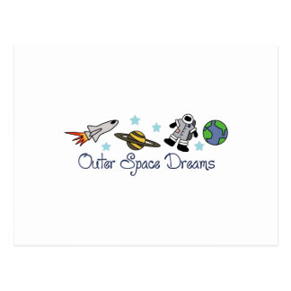 OUTER SPACE DREAMS POSTCARD