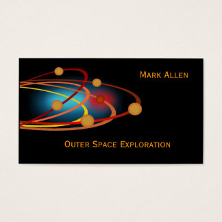 Outer Space Exploration Business Card