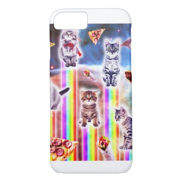 Outer Space Galaxy Cats With Rainbow iPhone 8/7 Case