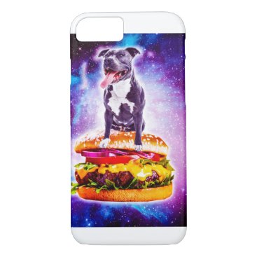 Outer Space Galaxy Dog Riding Burger iPhone 8/7 Case