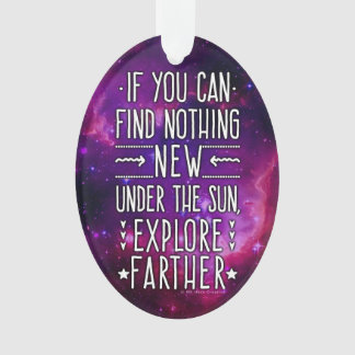 Outer Space Galaxy / Nebula Exploration Words 2 Ornament