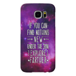 Outer Space Galaxy / Nebula with Exploration Words Samsung Galaxy S6 Cases