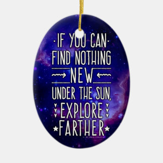 Outer Space Galaxy / Nebula with Exploration Words Ceramic Ornament