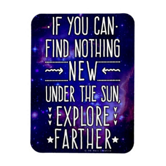 Outer Space Galaxy / Nebula with Exploration Words Magnet