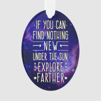 Outer Space Galaxy / Nebula with Exploration Words Ornament
