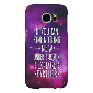 Outer Space Galaxy / Nebula with Exploration Words Samsung Galaxy S6 Case