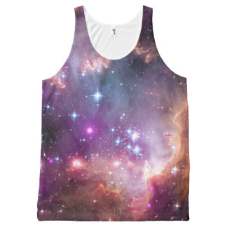 Outer Space Galaxy / Nebula with Stars All-Over Print Tank Top