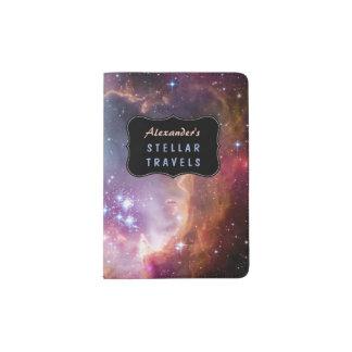 Outer Space Galaxy / Nebula with Stars Custom Passport Holder