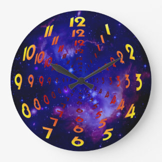 Outer Space Galaxy / Nebula Wormhole Numbers Large Clock