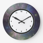 Outer Space galaxy, stars and nebula astronomy Wall Clocks