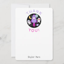 Outer Space Kittens Cat Astronaut Kids Thank You