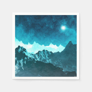 Outer Space Mountains Paper Napkin