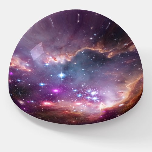 Outer Space Nebula Galactic Purple Astronomy Paperweight