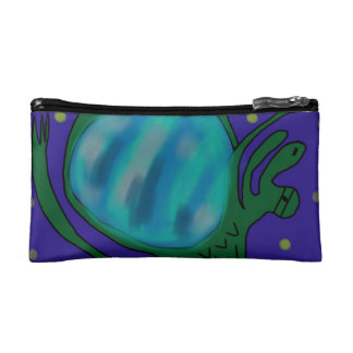 * Outer space or ge* SPACE LIZARD!! Makeup Bag