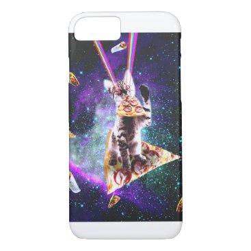 Outer Space Pizza Cat - Rainbow Laser, Taco, Burri iPhone 8/7 Case