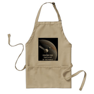 Outer space planet and probe adult apron