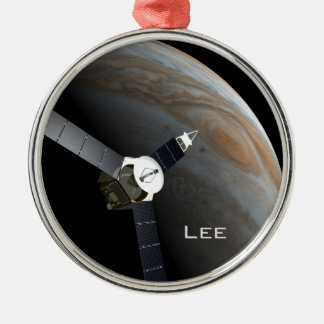 Outer space planet and probe metal ornament