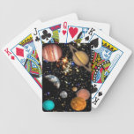 Outer space planets galaxy bicycle playing cards