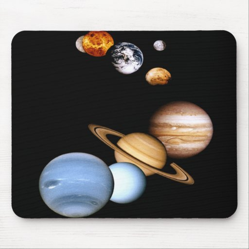 Outer space planets galaxy mousepads