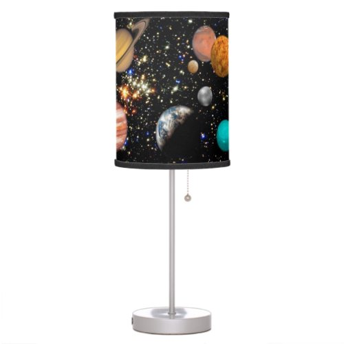Outer space planets table lamp