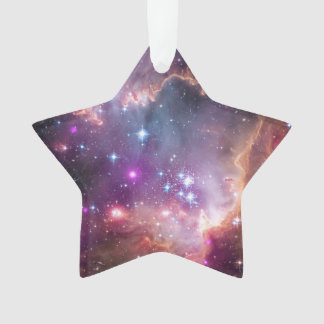 Outer Space Purple Nebulae Cool Astronomy Holiday Ornament