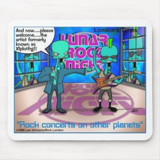 Outer Space Rock Bands Funny Gifts & Tees Mouse Pad