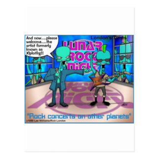 Outer Space Rock Bands Funny Gifts & Tees Postcard