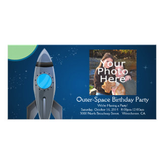 Outer Space Rocket Ship Card