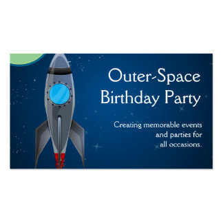 Outer Space Rocket Ship Double-Sided Standard Business Cards (Pack Of 100)