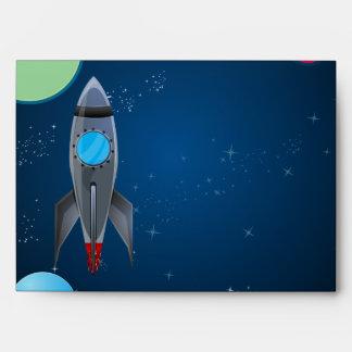 Outer Space Rocket Ship Envelope