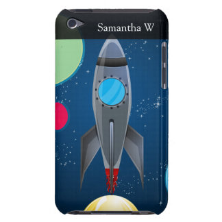 Outer Space Rocket Ship iPod Case-Mate Case