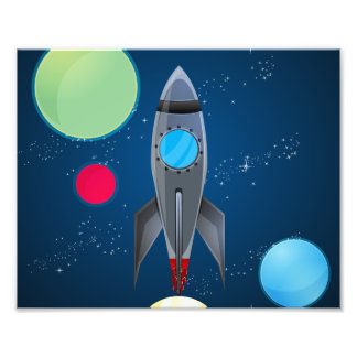 Outer Space Rocket Ship Photo Print