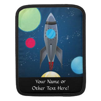 Outer Space Rocket Ship Sleeve For iPads