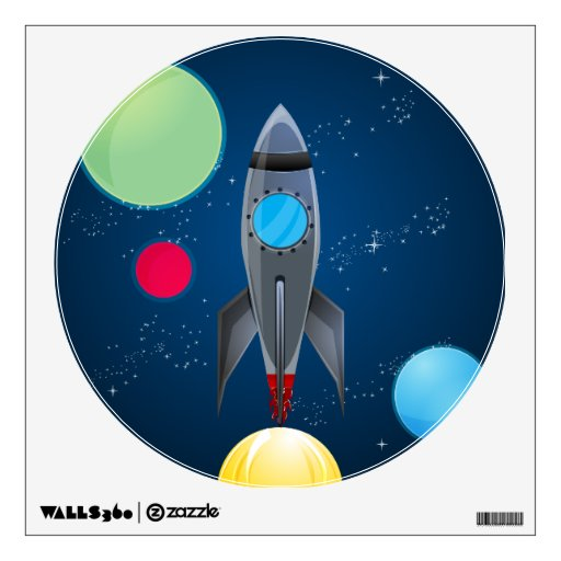 Outer Space Rocket Ship Wall Graphics