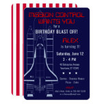 Outer Space Shuttle / Astronaut Birthday Card
