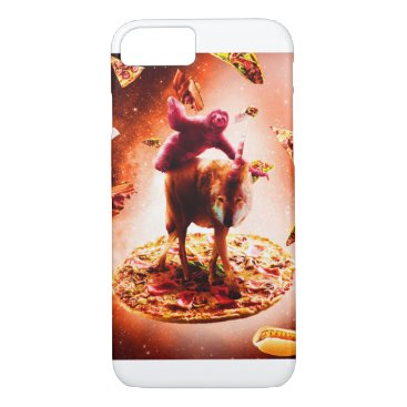 Outer Space Sloth Riding Wolf Unicorn iPhone 8/7 Case
