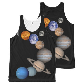 Outer Space Solar System All-Over Printed Tank Top All-Over Print Tank Top