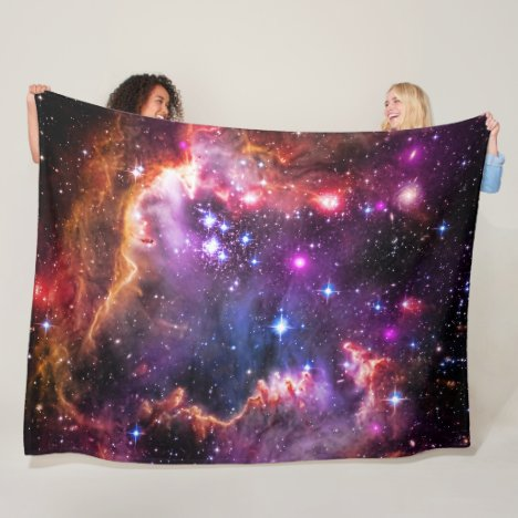 Outer Space Starry Wingtip, Small Magellanic Cloud Fleece Blanket