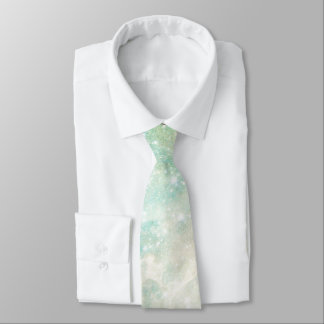 Outer Space Teal and Pink Galactic Starry Sky Neck Tie