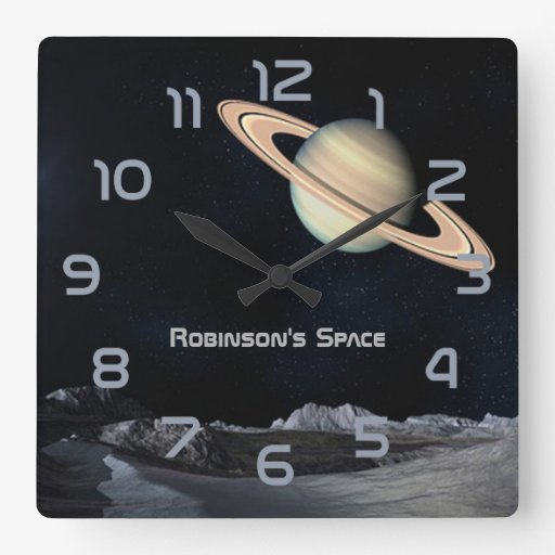 Outer space themed home decor personalised square wall for Outer space home decor