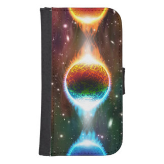 Outer space wallet phone case for samsung galaxy s4