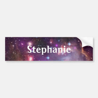 Outer Space Waterproof Kids School Name Labels Bumper Sticker