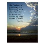 postcard, bible, verse, psalm, sunrise, sun,
