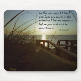 Outerbanks Morning 4, Psalm 5:3 Mouse Pad