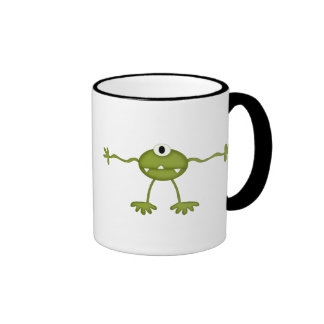 Outerspace Alien Ringer Coffee Mug
