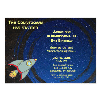 Outerspace Countdown Birthday Invitation