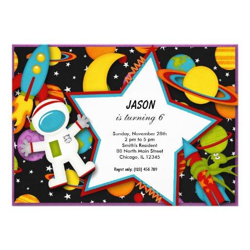 Outerspace Invitacion Personalizada