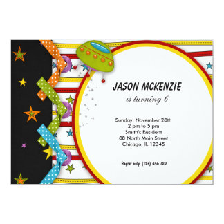 Outerspace 5x7 Paper Invitation Card